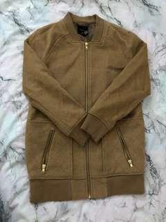 camel long wool bomber size s