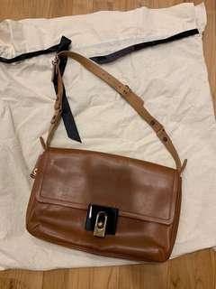 Lanvin tan leather shoulder bag
