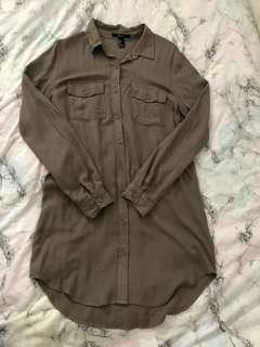 button down tunic size s