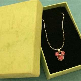 Pink Mickey Mouse Necklace