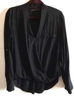 Zara Ling Sleeved Top Size XS