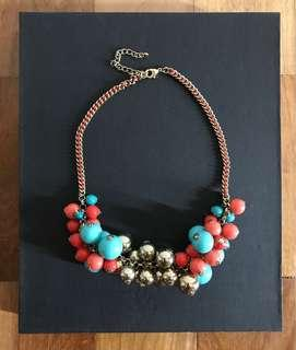 Necklace with Multicolored Balls