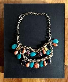 Necklace with Multicolored Beads