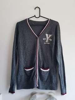 Grey Varsity Jacket Size M