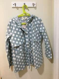 New with tag Impromptu Mint Polkadot Parka