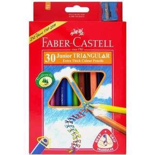 Faber Castell - 大三角彩色鉛筆 3.8mm (30色+筆刨)