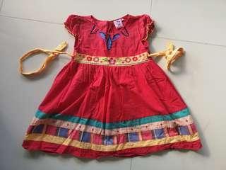 PL Embroidered cotton Dress 4 yo