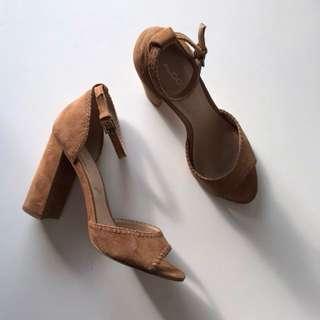 Aldo Tan Suede Heels (women's 8)