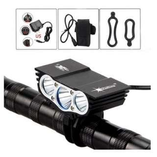 Solarstorm 15000Lm Bicycle 3x CREE XM-L U2 LED Light 4-Mode with battery
