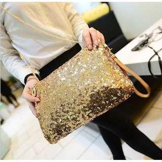 Latest Woman Glittering Sequin Fashion Sling Bag