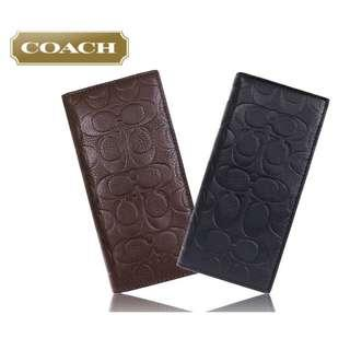 COACH MENS F75026 FULL LEATHER BREAST POCKET WALLET IN SIGNATURE