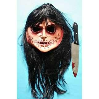 Halloween Mask Mr. Hyde Flesh Version Mask with  Bloody Knife
