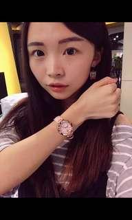 🚚 Casio sheen 真皮芭比粉手錶