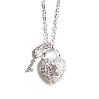🚚 Pure Love Lock and Key Pendant Necklace