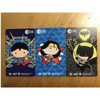 Justice League ezLink Cards (Set of 3)