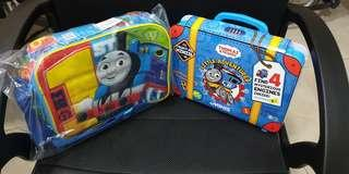 BNWT Thomas and Friends Lunch Bag & Mini Collectibles trains cum Storage box