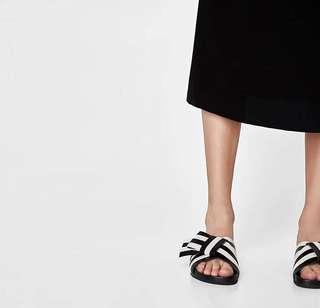 Zara Minimalist Stripe Sandal
