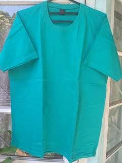 Baju Polos Hijau Tosca fit XL (New)