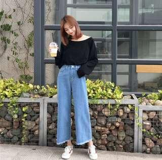 Korea Style High Waist Loose Jeans