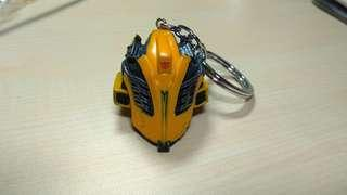 Transformers bubblebee battlemode head keychain