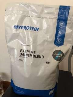 Extreme Gainer Blend high protein shake (Vanilla) myprotein 2.5kg whey