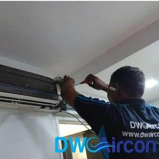 Aircon Chemical Overhaul, Aircon Insulation, And Solved Aircon Leaking (Aircon Repair Singapore, HDB)