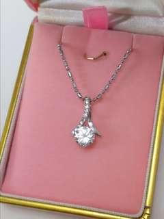 925 silver 純銀 Like diamond 高碳鑽頸鍊 cz necklace #trickortreat
