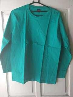Baju Polos Hijau Tosca Lengan Panjang (New)