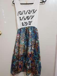 Number font colourful dress