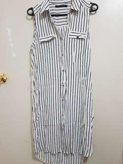 Portmans long striped dress