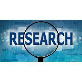 Research Service at cheapest rates