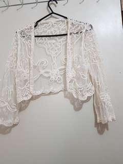Long sleeve lace wedding or special occasion cardigan