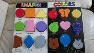 Melissa & Doug Shapes and colors chunky puzzle