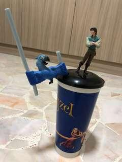 Tangled movie - character cup with straw