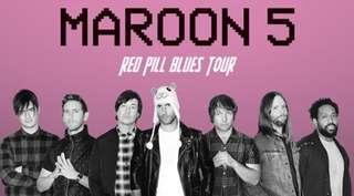 Maroon 5 Singapore Concert Tickets (Cat 6 ticketsx2)