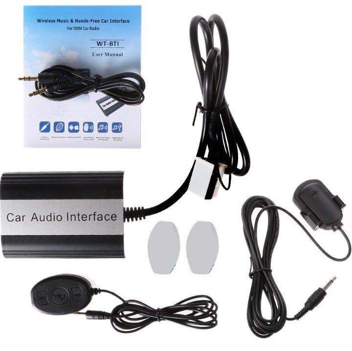 (1192) Numkuda Car Stereo Bluetooth Kits For VW Audi Skoda Music Hands-free  Car Interface Aux Adapter Wireless Music Receiver AUX USB Interface