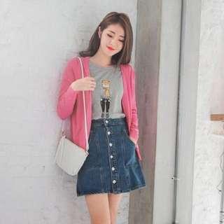 Sale!!🈹$50 for 3 pcs 鮮粉紅/桃紅色pink針織外套