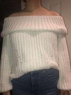 Mendocino Off-the-Shoulder Knitted Sweater