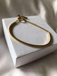 Country Road gold half bangle bracelet