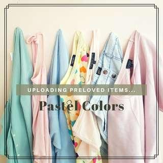 Pastel colored preloved items