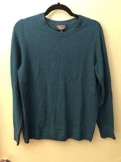 Merino Wool Green Sweater