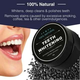 🚚 Activated Organic Charcoal Teeth Whitening