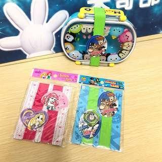 《日本直送》Disney Toy Stoy Ariel 小魚仙 長髪公主 Rapunzel 飯盒帶 lunch belt 餐盒帶 buzz woody