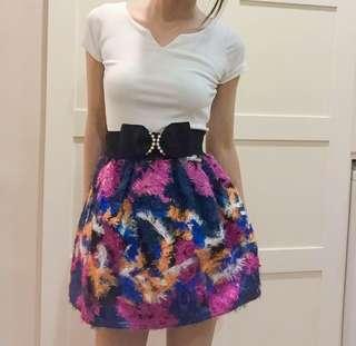 🚚 毛呢傘裙/絢彩