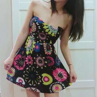 🚚 花朵平口洋裝