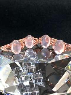Natural Pink Crystal Ring