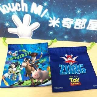 《日本直送》Disney Toy Story 索袋 布袋 雜物袋 飯盒袋 buzz woody 巴斯光年 胡迪 lunch bag