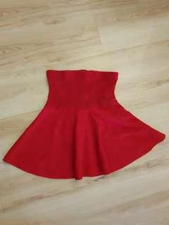 Red zara skirt