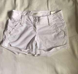 White Bershka Shorts