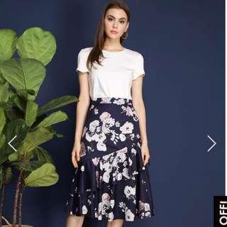 The Stage Walk Shantel Floral Midi Skirt